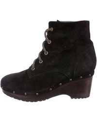 Opening Ceremony - Lace-up Wedge Ankle Boots Black - Lyst