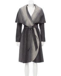 Zac Zac Posen - Alisha Wrap Coat W/ Tags Grey - Lyst