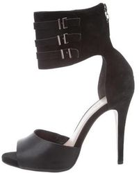 Carven - Suede Cuff Sandals - Lyst