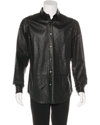 Jean Paul Gaultier - Leather Cut-out Shirt - Lyst
