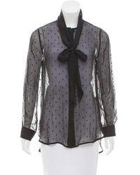 Zimmermann - Silk Long Sleeve Top - Lyst