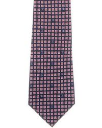 Chanel - Silk Geometric Interlocking C Print Tie Navy - Lyst