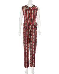 Étoile Isabel Marant - Printed Mid-rise Jumpsuit W/ Tags Multicolor - Lyst