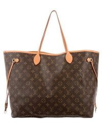 Louis Vuitton - Monogram Neverfull Gm Brown - Lyst