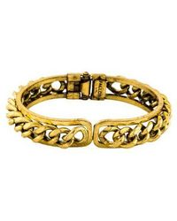 Fallon - Curb Chain Cuff Gold - Lyst