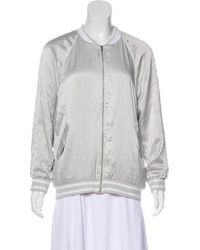 Equipment - Silk Embroidered Bomber W/ Tags Grey - Lyst