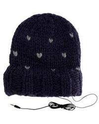 Rebecca Minkoff - Knit Headphone Beanie W/ Tags Grey - Lyst