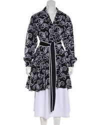 Alexis - Embroidered Knee-length Coat - Lyst