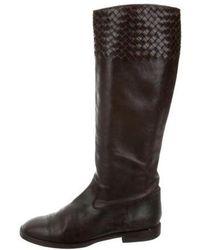 Bottega Veneta - Intrecciato Leather Boots - Lyst