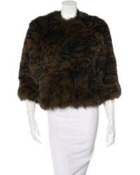 Yves Salomon - Knitted Fox Fur Jacket - Lyst
