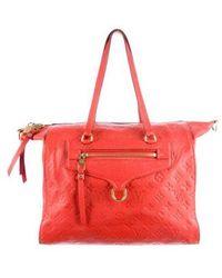 Lyst Louis Vuitton Empreinte Lumineuse Pm Orange In Red