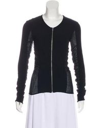 CoSTUME NATIONAL - Ruched Zip-up Cardigan - Lyst