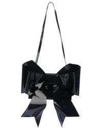 MM6 by Maison Martin Margiela - Bow Shoulder Bag Black - Lyst