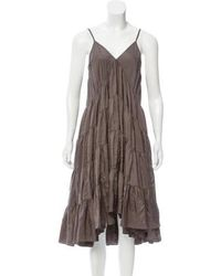 Nicholas K - Sleeveless Silk Dress Olive - Lyst