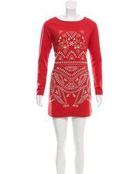 Alice By Temperley - Sequin-embellished Mini Dress Orange - Lyst