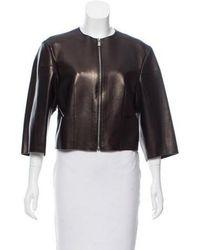 Michael Kors - Leather Zip-up Jacket - Lyst