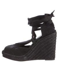 Narciso Rodriguez - Canvas Espadrille Wedges - Lyst