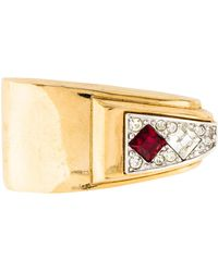 Givenchy - Crystal Brooch Pin Gold - Lyst
