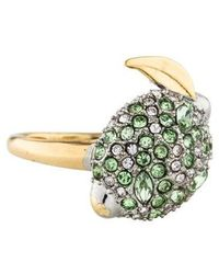 Alexis Bittar - Crystal Encrusted Lime Ring Gold - Lyst