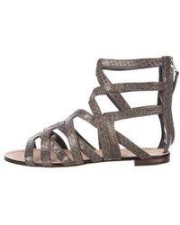 B Brian Atwood - Gladiator Sandals Grey - Lyst