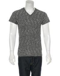 Dior Homme - Marbled V-neck T-shirt - Lyst
