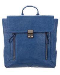 3.1 Phillip Lim - Leather Pashli Backpack Blue - Lyst