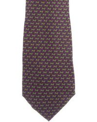 Ferragamo - Rabbit Print Silk Tie - Lyst