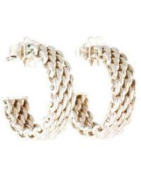 Tiffany & Co. - Mini Somerset Hoop Earrings Silver - Lyst