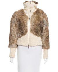 Christian Lacroix - Fur Wool-trimmed Jacket - Lyst