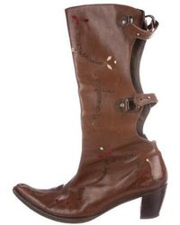 Henry Beguelin - Embroidered Knee-high Boots - Lyst