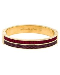 MICHAEL Michael Kors - Michael Kors Color Crush Hinged Bangle Gold - Lyst