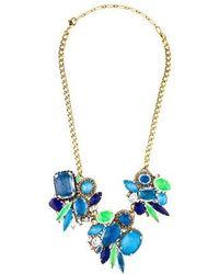 Erickson Beamon - Crystal Collar Necklace Gold - Lyst
