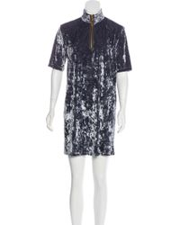 Marc Jacobs - Velvet Mini Dress Blue - Lyst