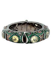 M.c.l  Matthew Campbell Laurenza - Quartz & Multicolor Sapphire Enamel Bracelet Silver - Lyst