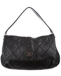 9dffe11c555f13 Lyst - Chanel Velvet Handle Bag Black in Metallic