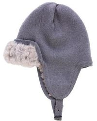 3.1 Phillip Lim - Knit Fur Trapper Hat Grey - Lyst