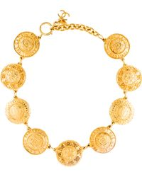 Chanel - Rue 31 Cambon Coin Necklace Gold - Lyst
