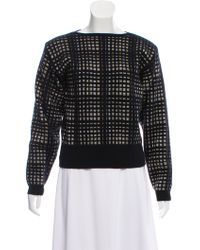 Dior - Wool-blend Metallic Sweater - Lyst