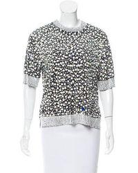 By Malene Birger - Embellished Short Sleeve Top - Lyst