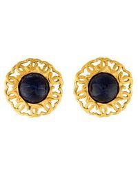 Chanel - Sodalite Clip-on Earrings Gold - Lyst