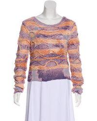 Faith Connexion - Long Sleeve Knit Sweater Orange - Lyst