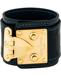 Louis Vuitton - Damier Vernis Suhali S Lock Bracelet Gold - Lyst