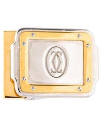 Cartier - Santos Belt Buckle Silver - Lyst