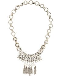 DANNIJO - Zoya Crystal & Pearly Necklace Silver - Lyst