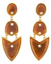 Kara Ross - Artemis Drop Earrings Gold - Lyst