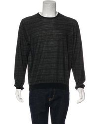 Lanvin - Striped Knit Sweater Black - Lyst