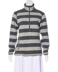 Patagonia - Stripe Pullover Sweater Grey - Lyst