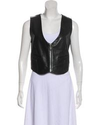 Chrome Hearts - Leather Moto Vest - Lyst