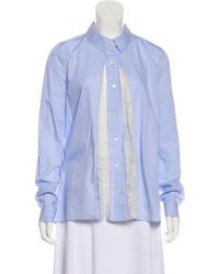 Thakoon - Long Sleeve Button-up Top - Lyst