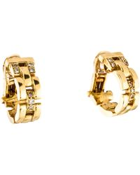 Cartier - Maillon Panthère Earrings Yellow - Lyst
